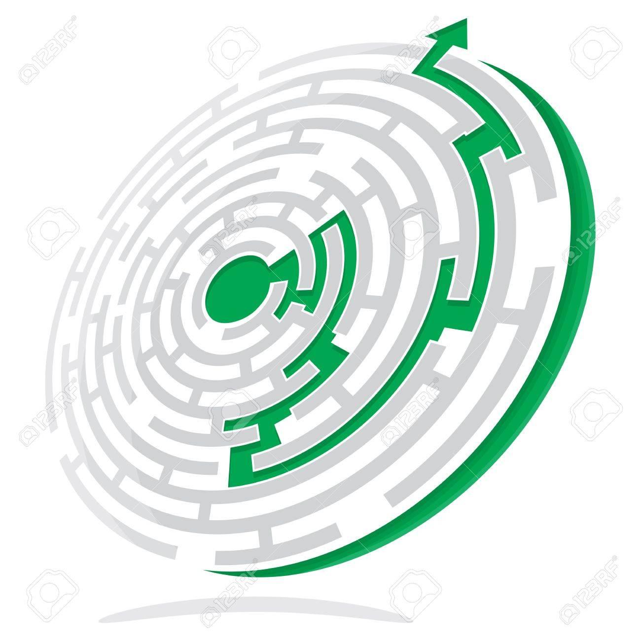 Maze Solution Stock Vector - 18419461