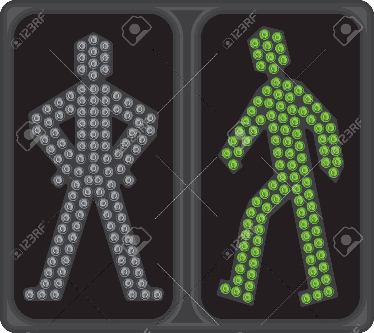 LED crosswalk signal Stock Vector - 18419457