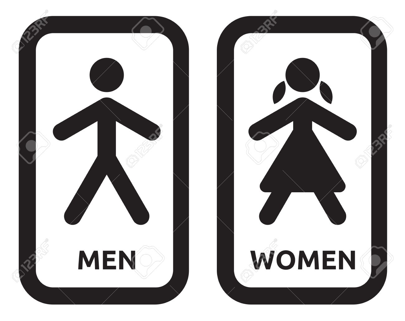 Man And Women Wc Sign Stock Vector