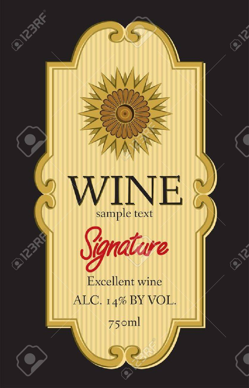 High Quality Vector   Wine Label Design