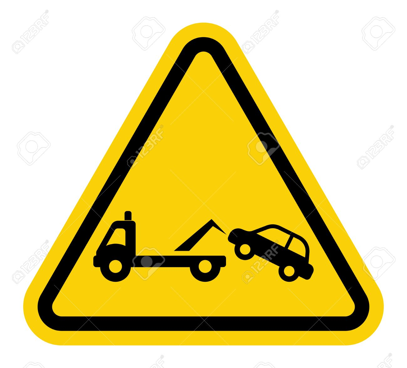 Traffic Sign No Parking Tow Away Zone Sign Royalty Free Cliparts