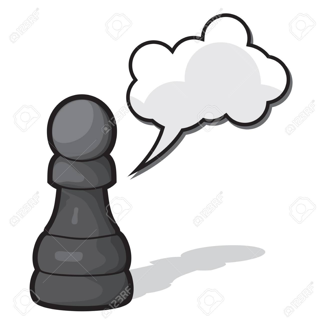Chess pawn with cloud speach Stock Vector - 18734095