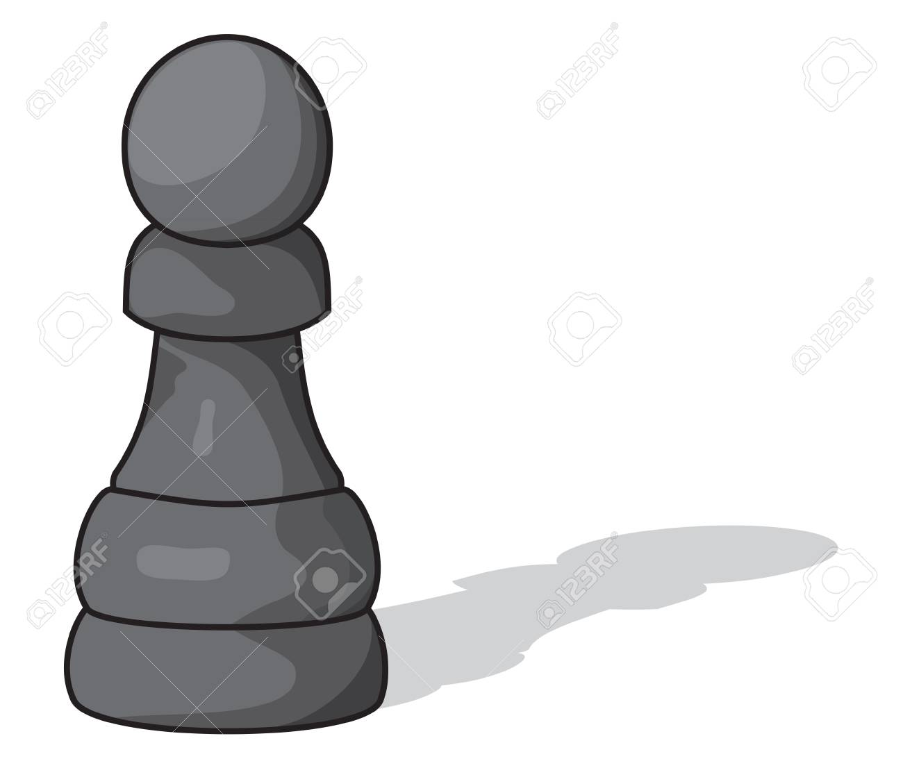 pawn isolated on white background Stock Vector - 18690044