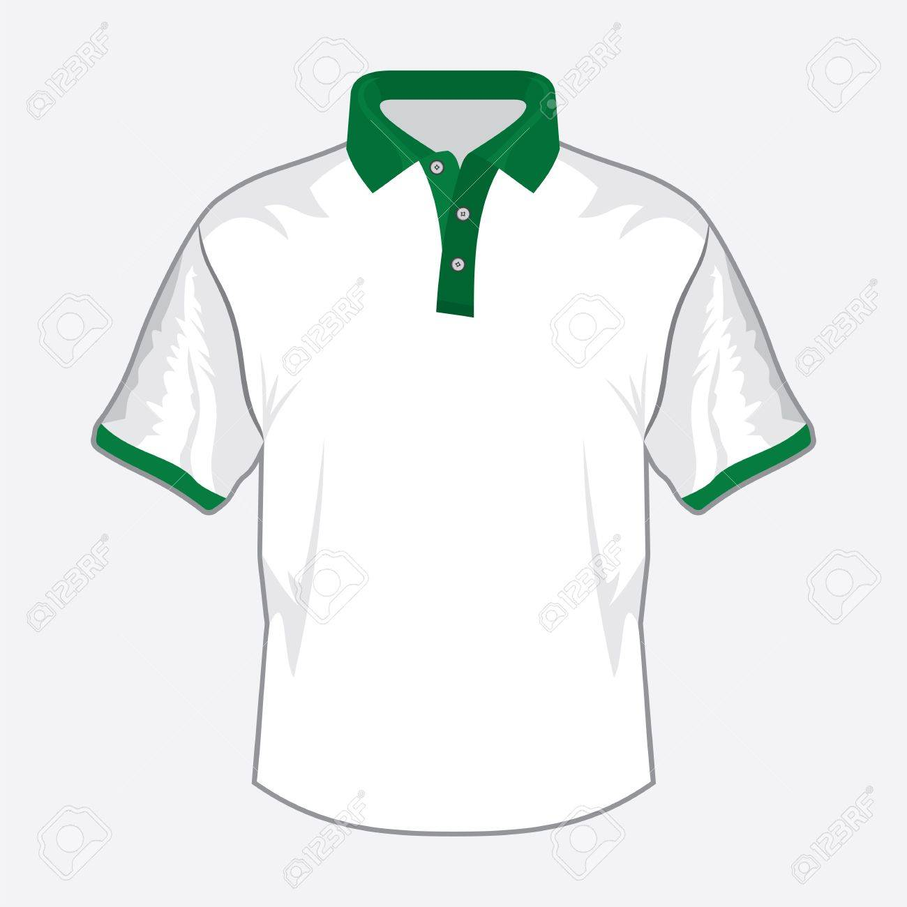 Shirt design green - Blue Polo Shirt Design With Green Collar Stock Vector 18734100