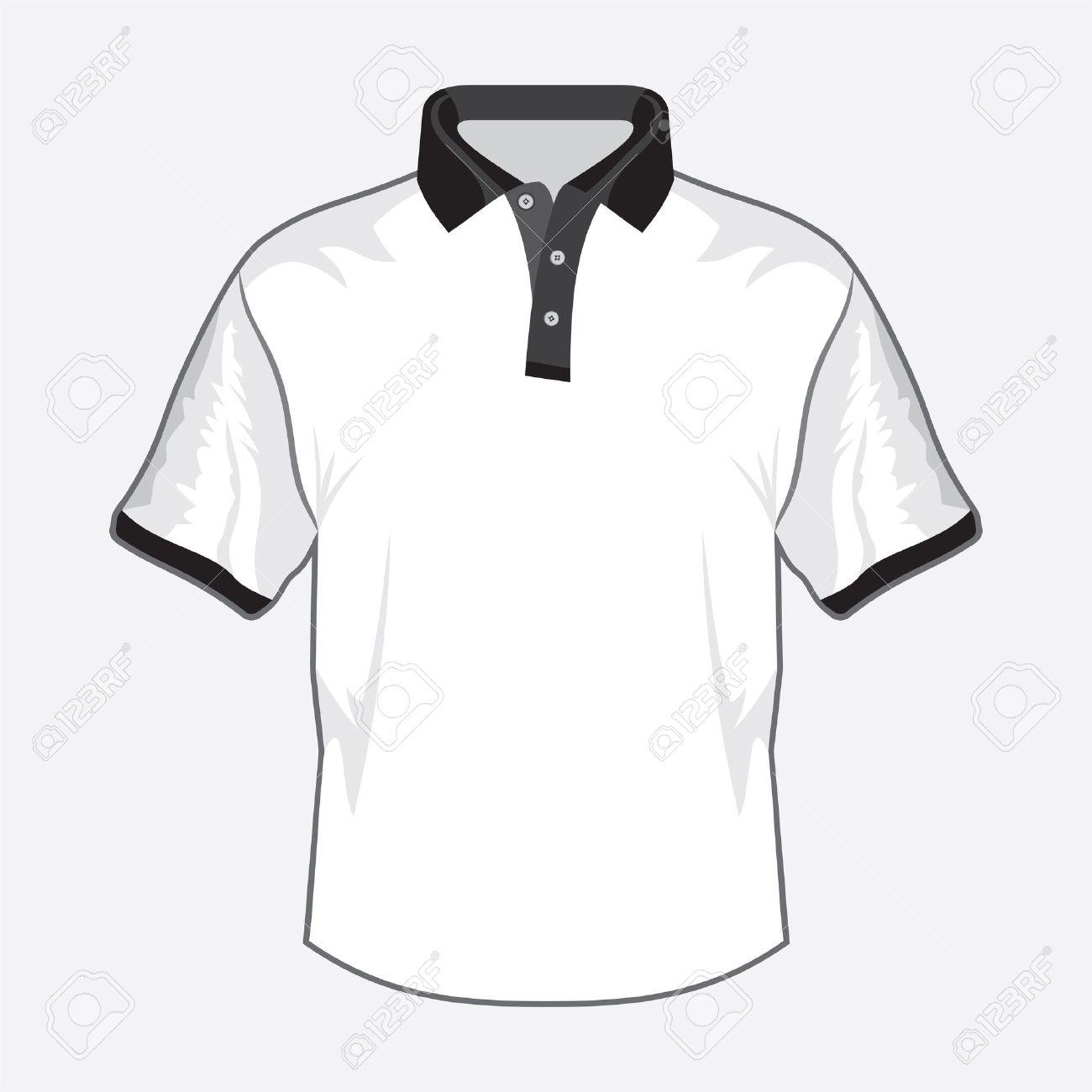 White polo shirt design with black collar Stock Vector - 18734097