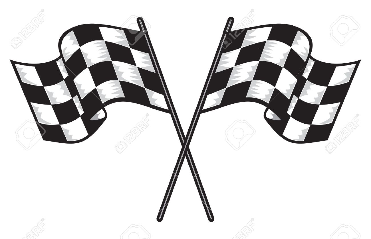 two crossed checkered flags royalty free cliparts vectors and rh 123rf com checkered flag vector art free vector checkered flag clip art