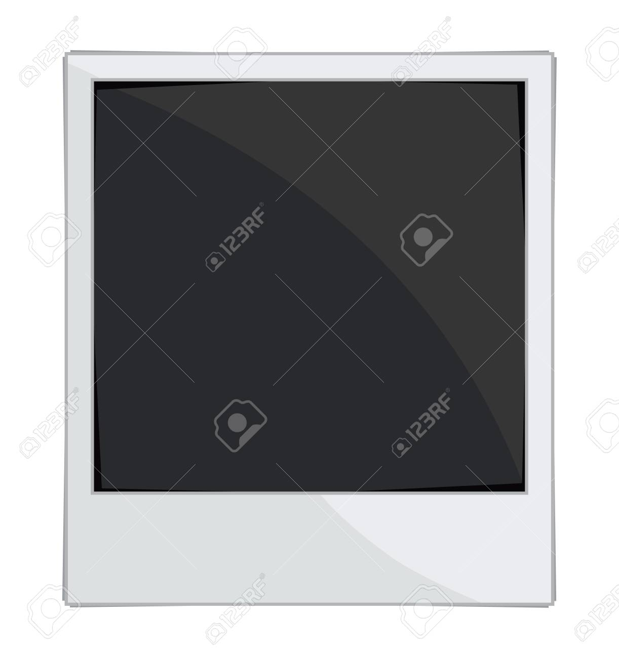 Empty photo frames on white background Stock Vector - 18502278