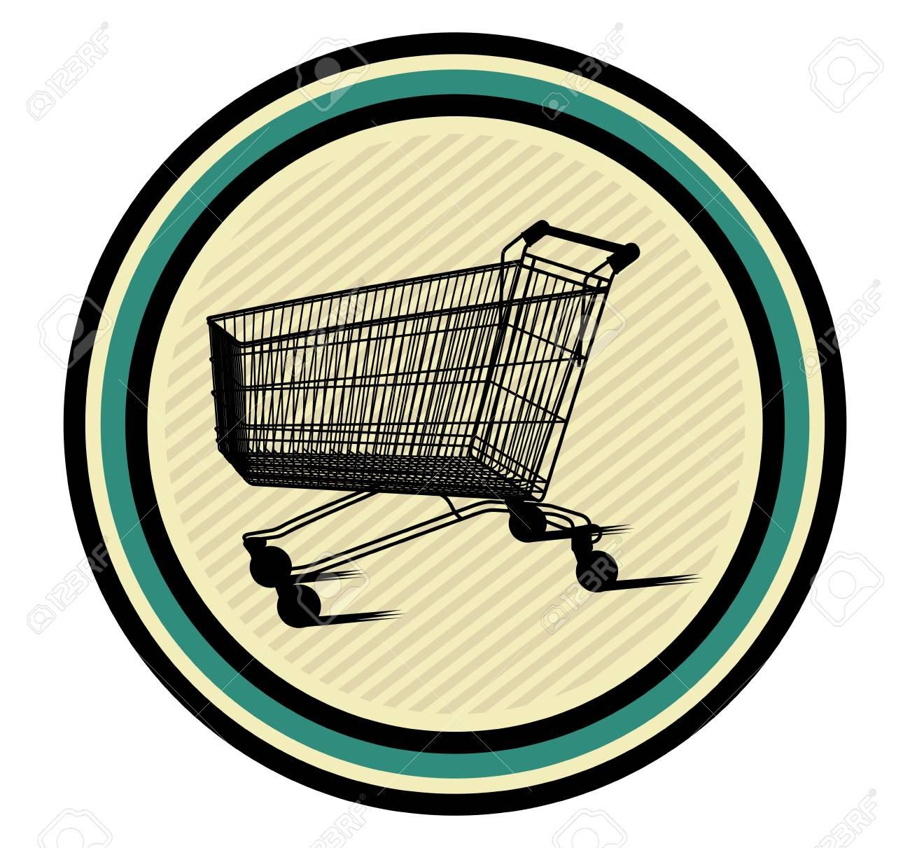 shopping cart icon Stock Vector - 18502282
