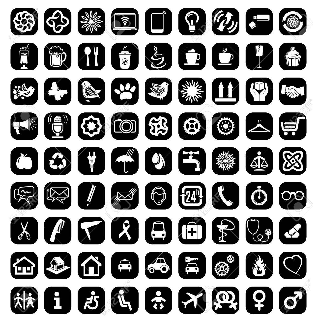 The big icon set Stock Vector - 18523132
