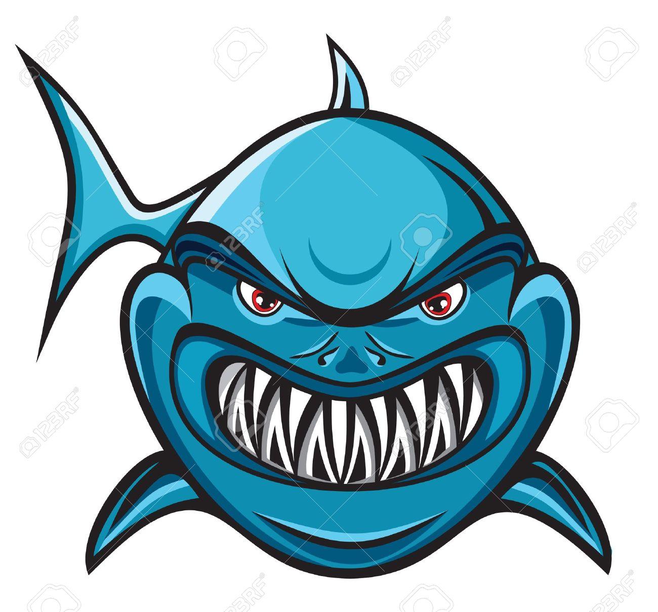 Angry shark Stock Vector - 18523137
