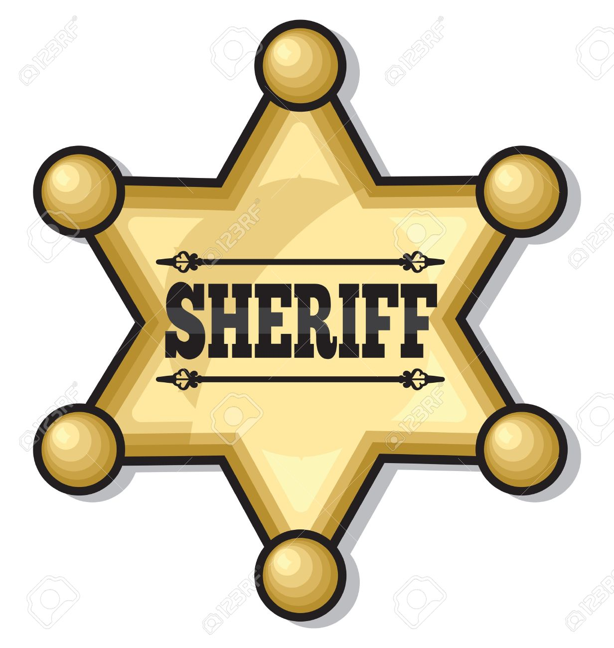 sheriff badge royalty free cliparts vectors and stock illustration rh 123rf com sheriff badge vector free download county sheriff badge vector