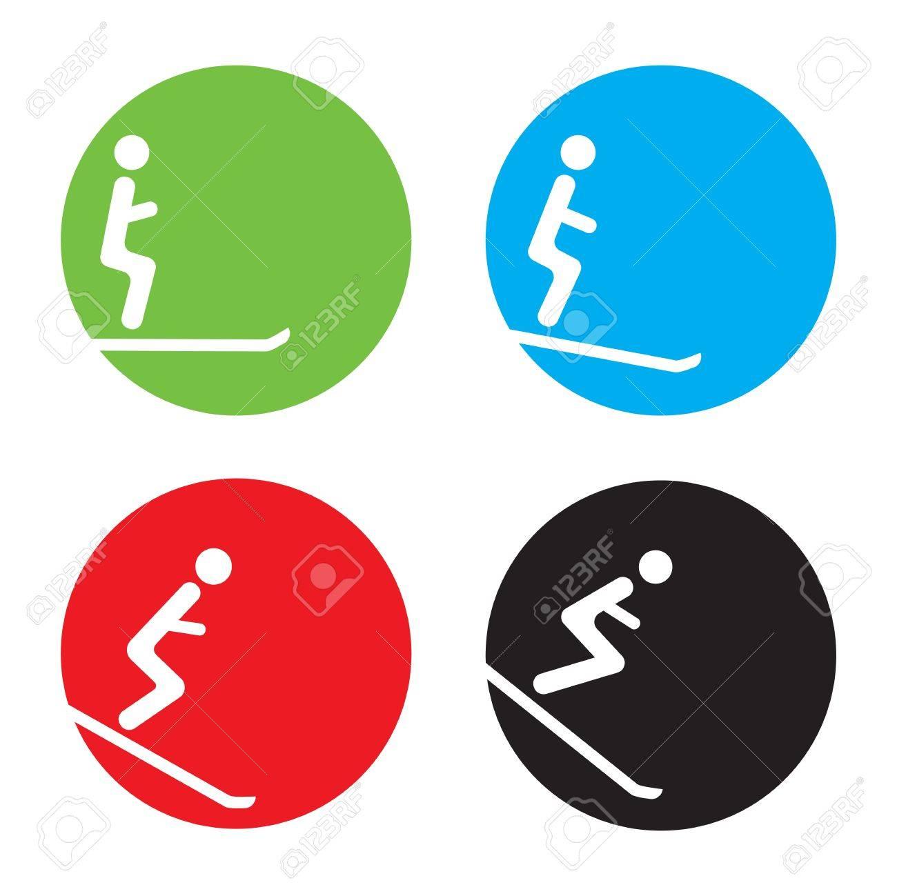 Ski icons Stock Vector - 18579639