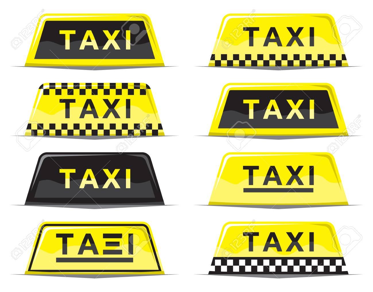 Taxi sign set Stock Vector - 18661657