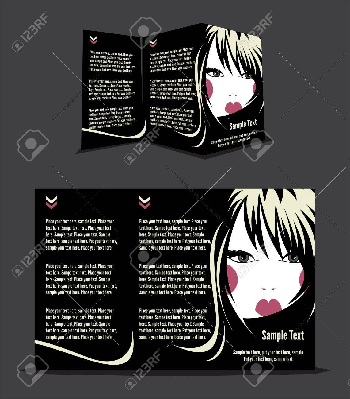 Fashion Girl Brochure Design Template Royalty Free Cliparts – Fashion Design Brochure Template