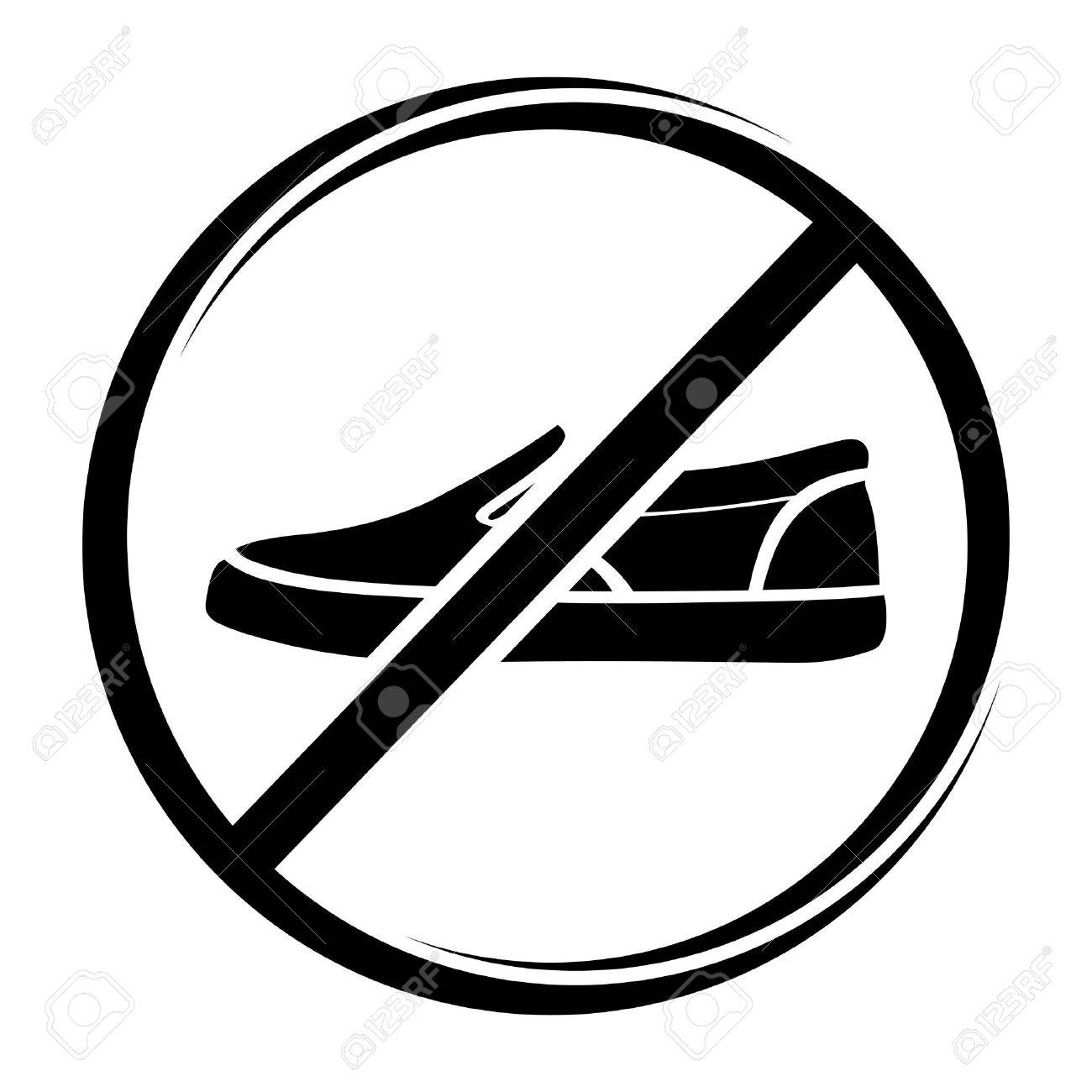 No shoes sign Stock Vector - 19193366