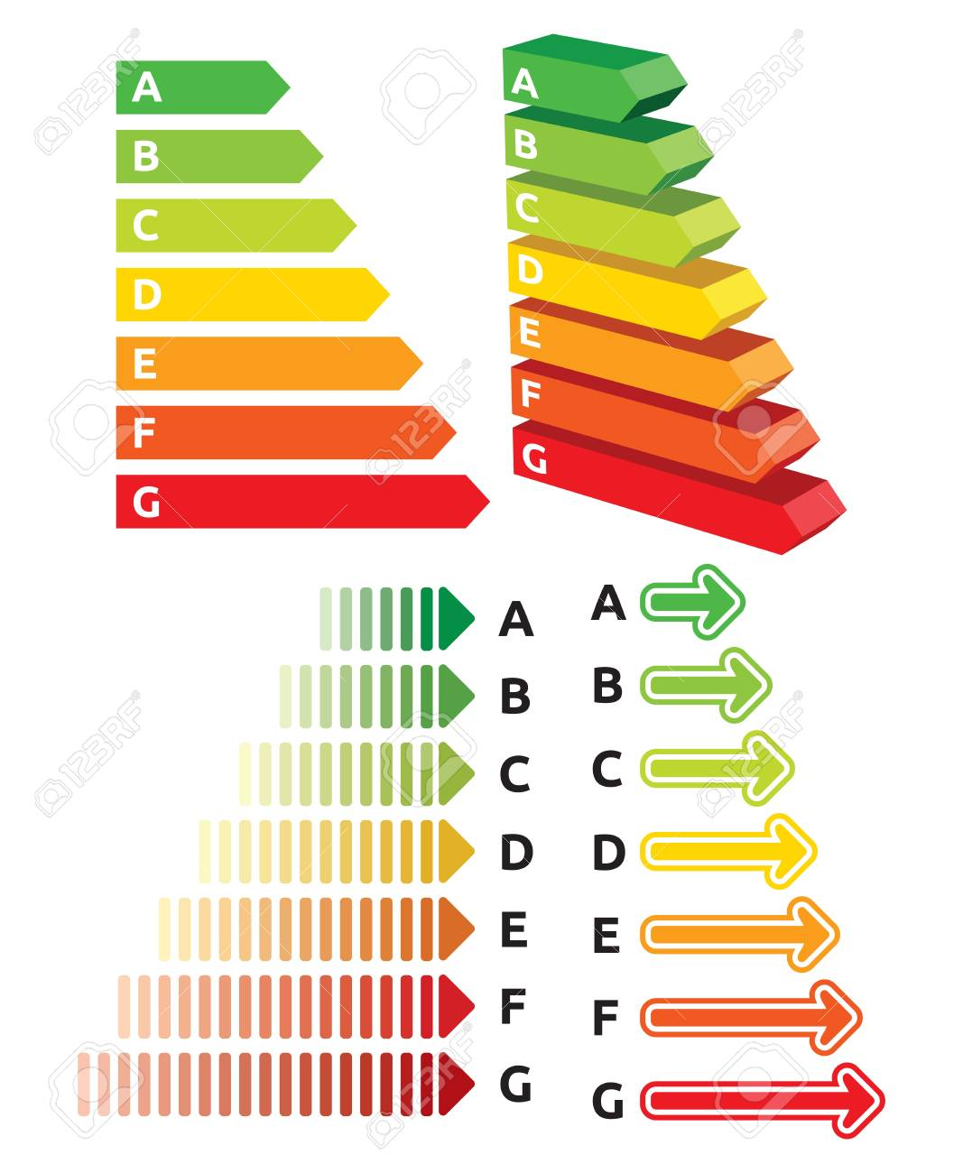 Energy efficiency rating Stock Vector - 19193102
