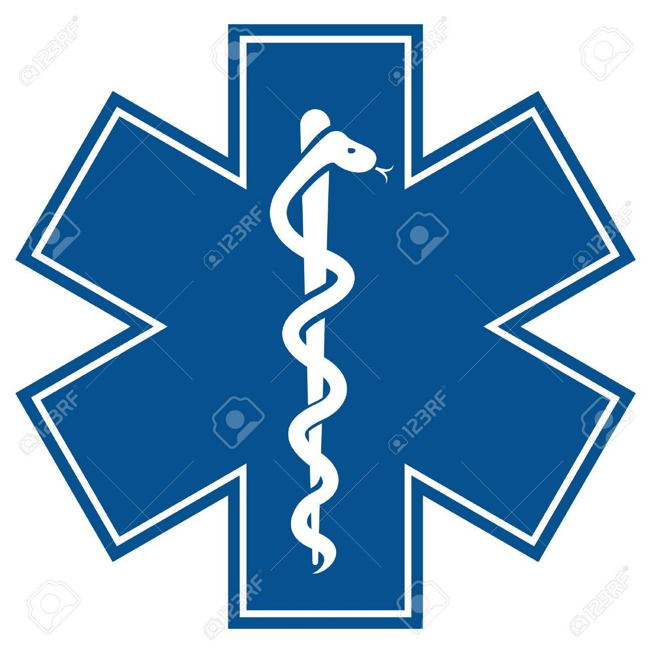 Emergency star medical symbol caduceus snake with stick royalty emergency star medical symbol caduceus snake with stick stock vector 20504126 buycottarizona Image collections