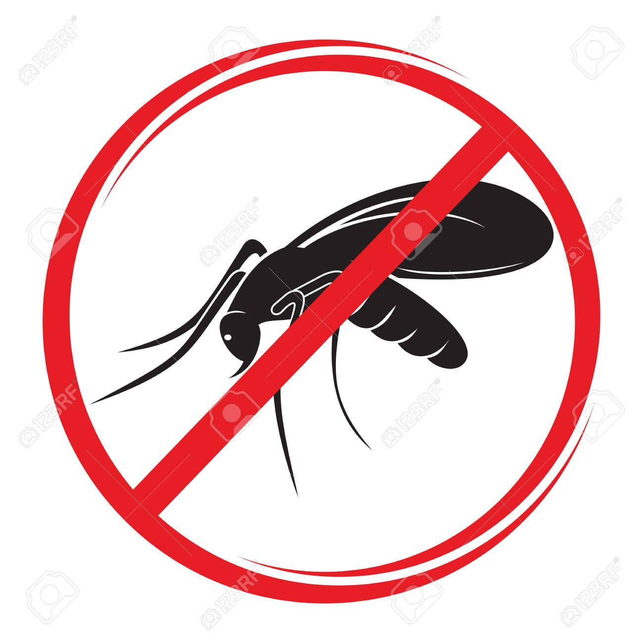 stop mosquito sign Stock Vector - 20504122