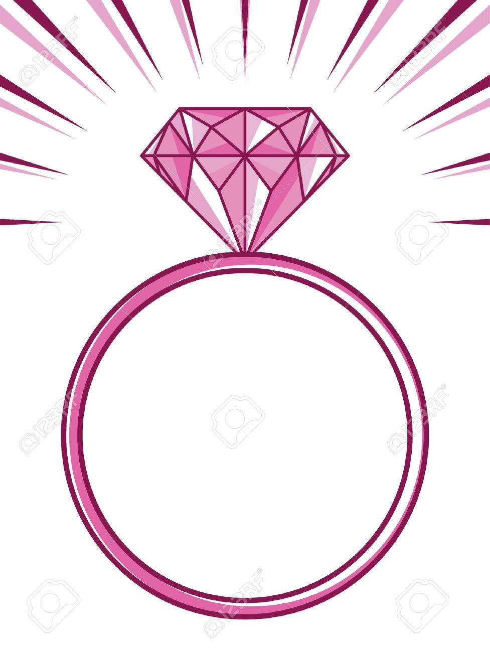 Wedding Or Engagement Ring With Diamond Royalty Free Cliparts ...
