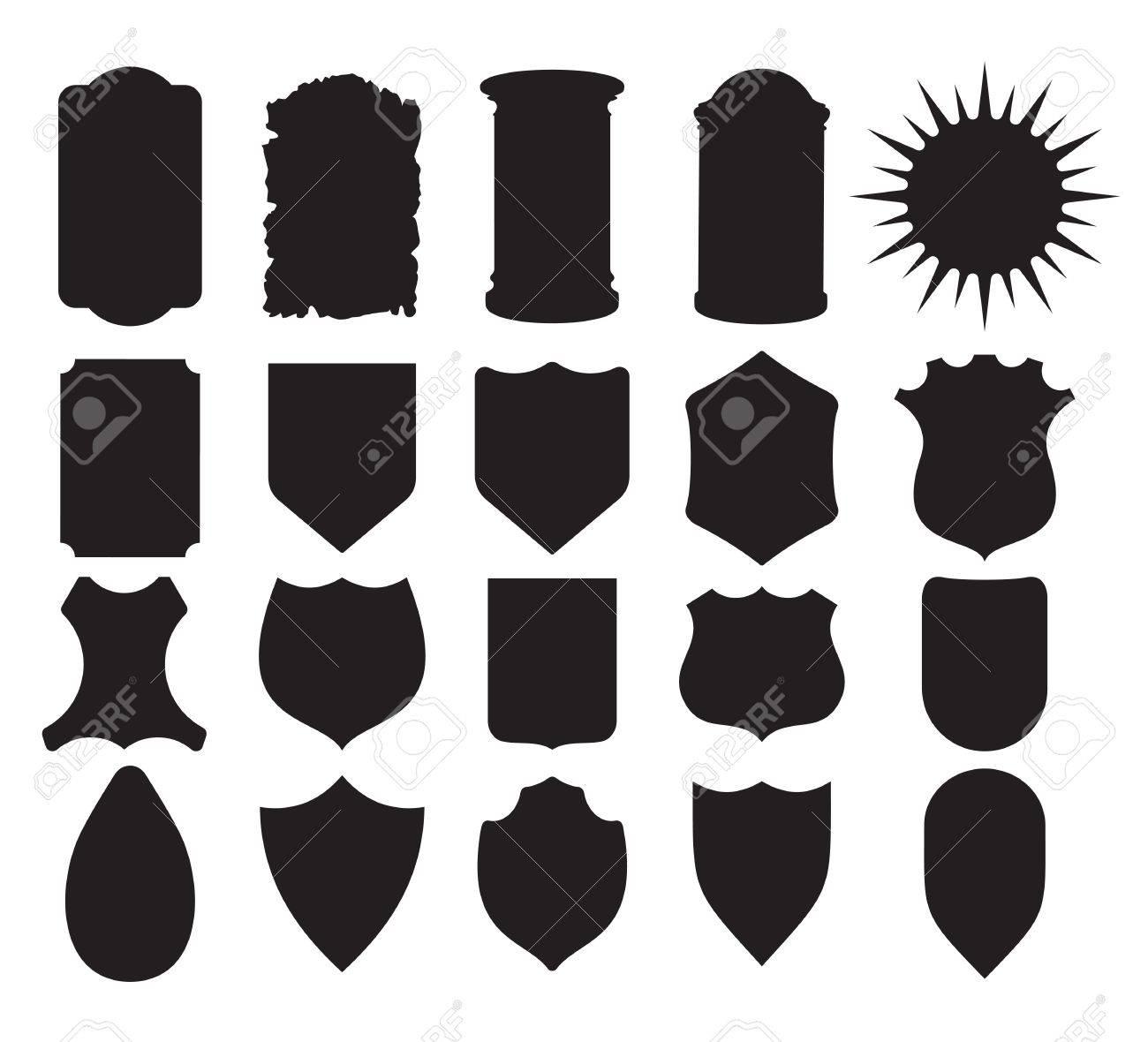 Shield Set Stock Vector - 20504300