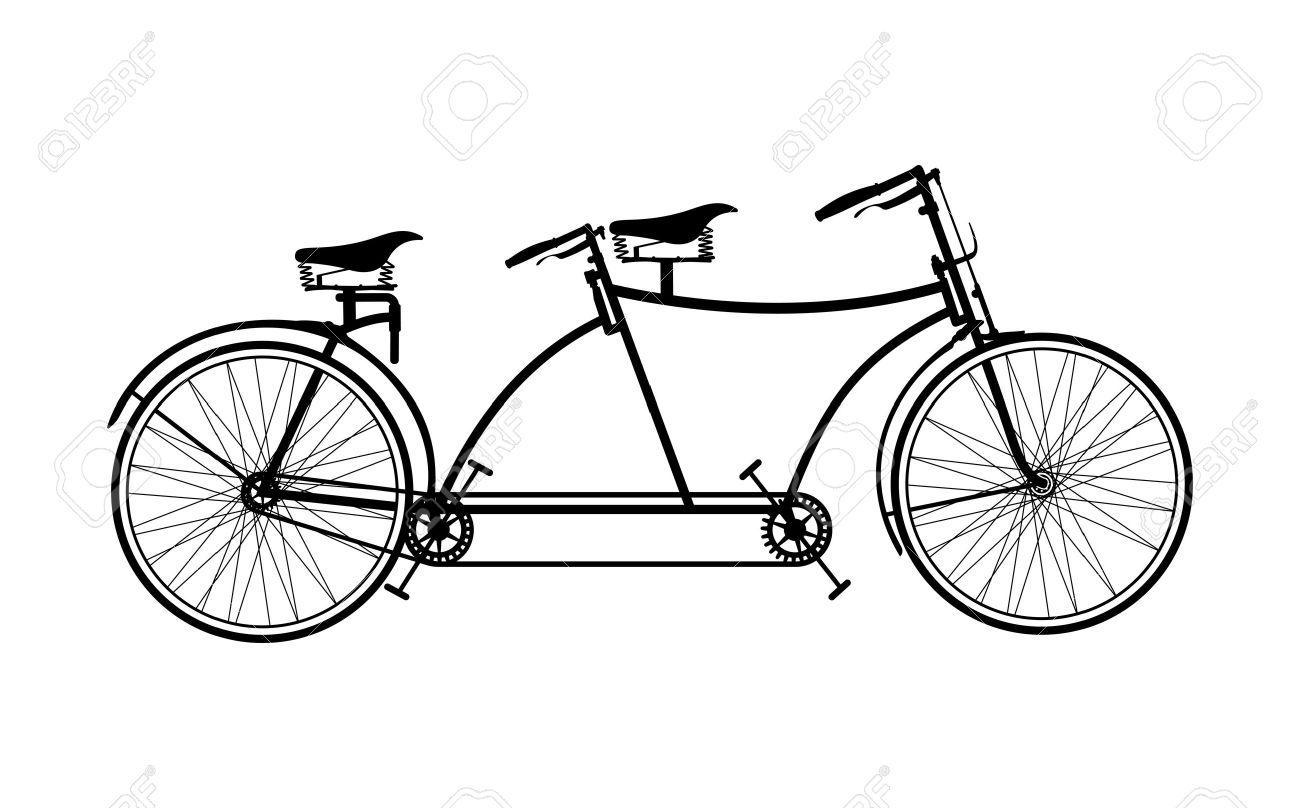retro tandem bicycle royalty free cliparts vectors and stock rh 123rf com vintage tandem bike clipart wedding tandem bike clipart