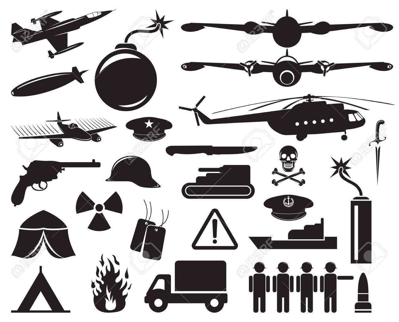 military icons Stock Vector - 23349054