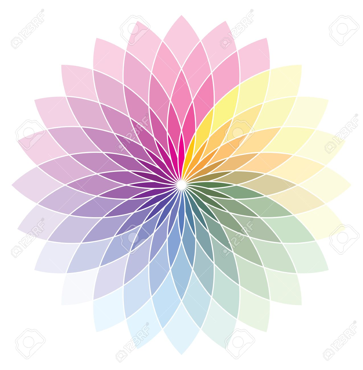 Flower Shape Color Wheel Stock Vector