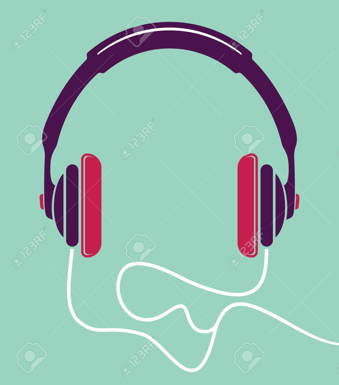 Headphone Poster Royalty Free Cliparts, Vectors, And Stock ...