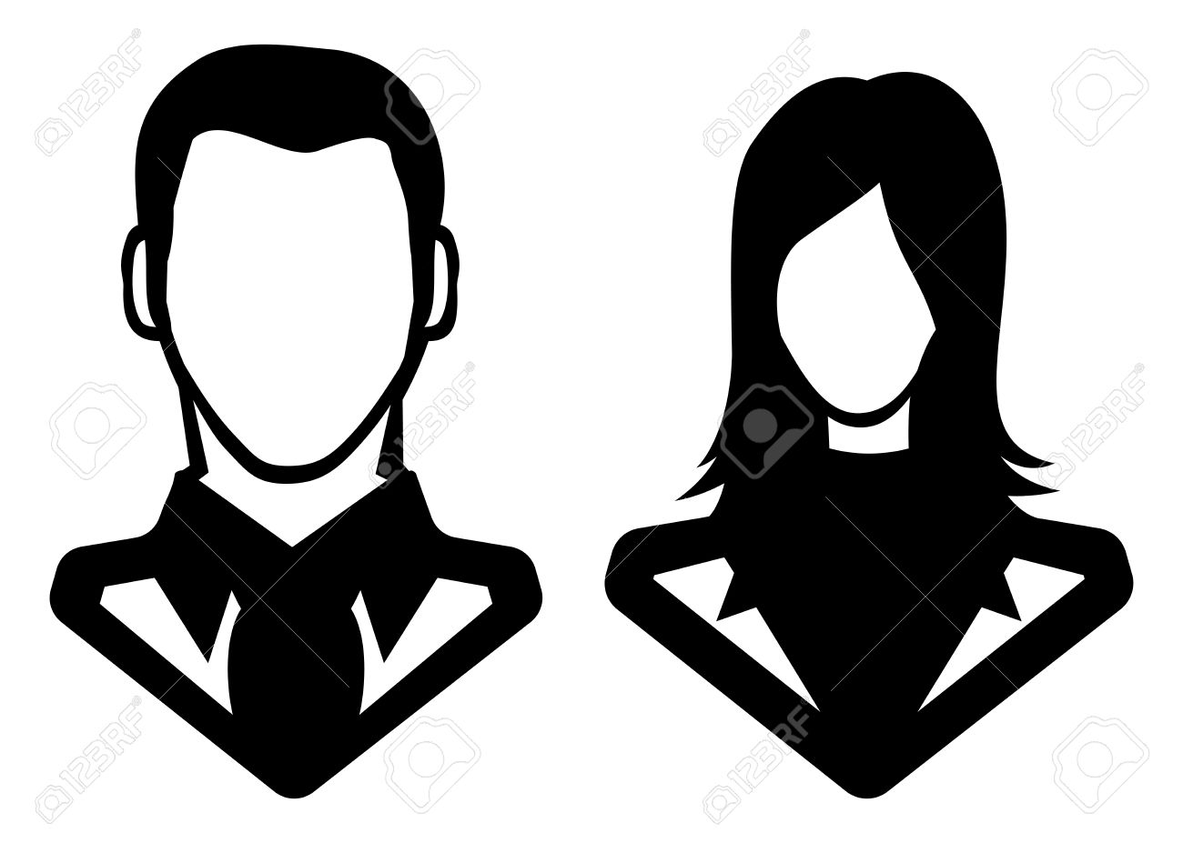 Man And Woman Icon - Avatar Royalty Free Cliparts, Vectors, And ...