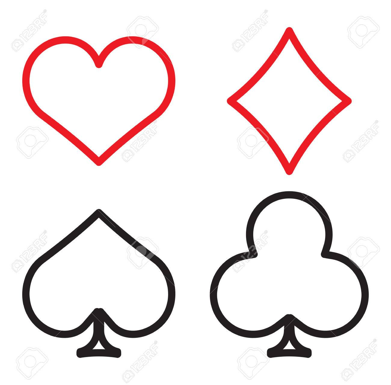 Playing cards symbols royalty free cliparts vectors and stock playing cards symbols stock vector 31266380 biocorpaavc