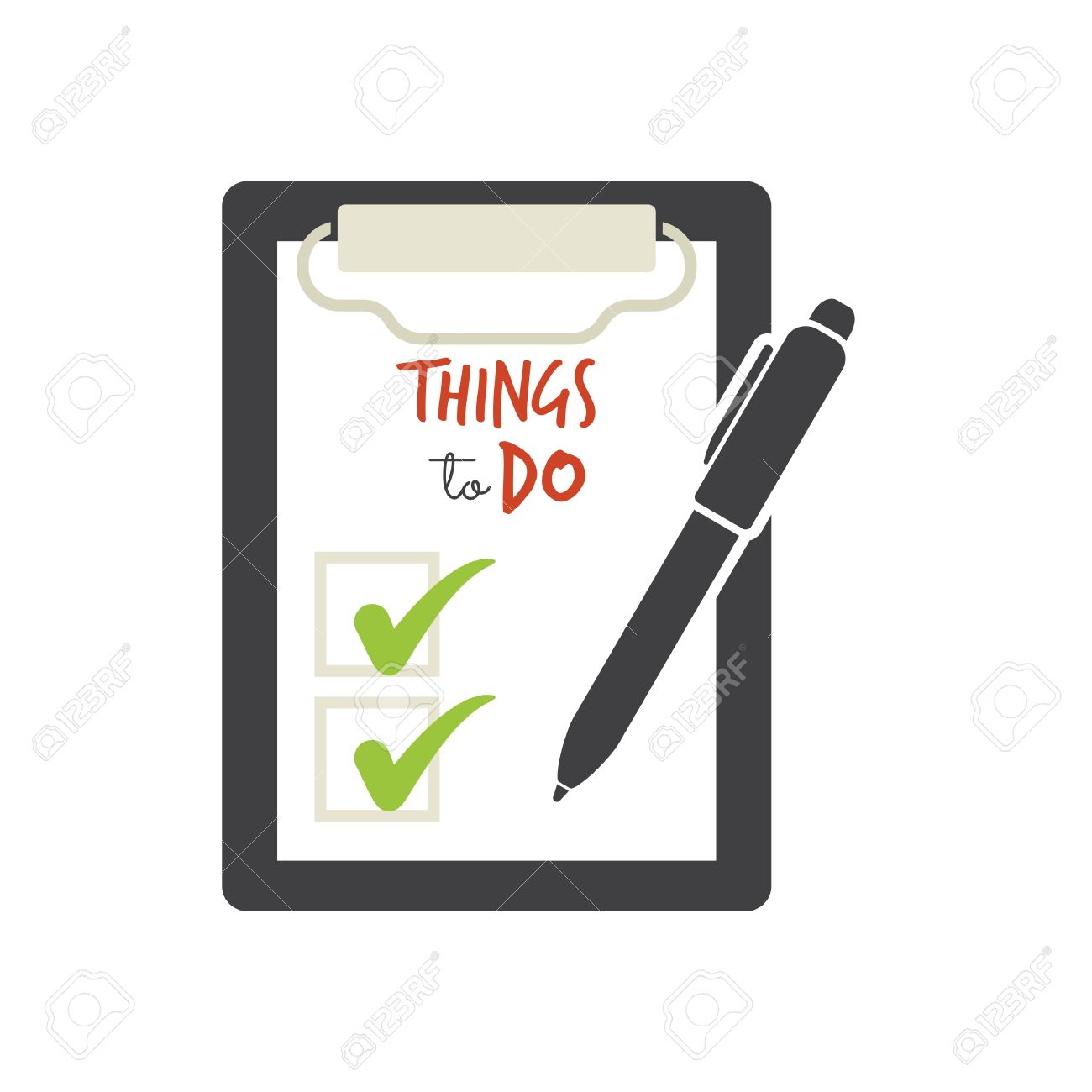 things to do - check list royalty free cliparts, vectors, and stock
