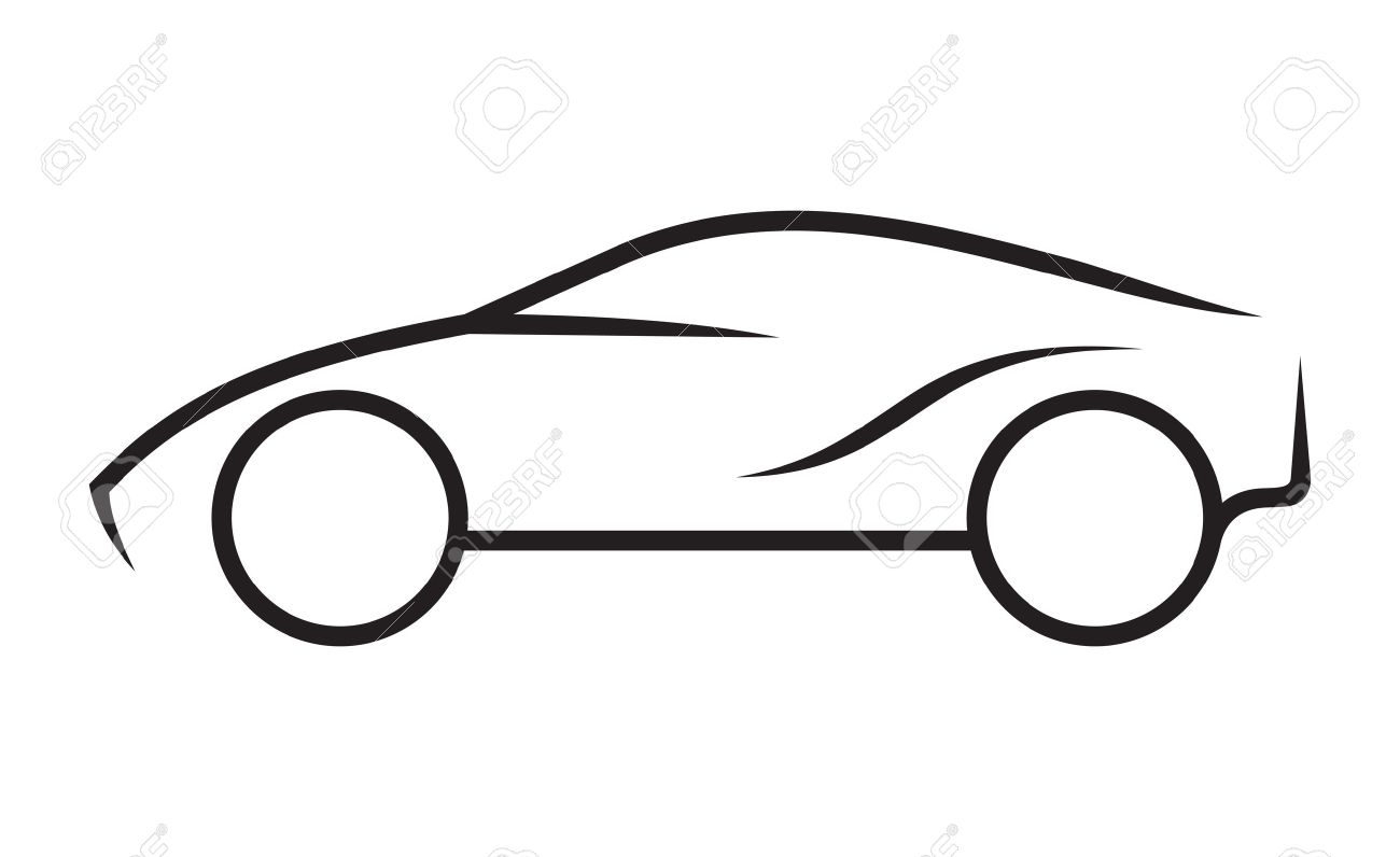 car line art royalty free cliparts vectors and stock illustration rh 123rf com Car Clip Art Black and White Basic Car Outline