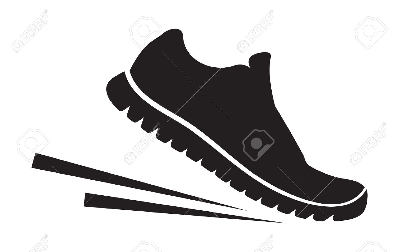 17 116 running shoes cliparts stock vector and royalty free running rh 123rf com running shoe footprint clipart running shoe outline clipart