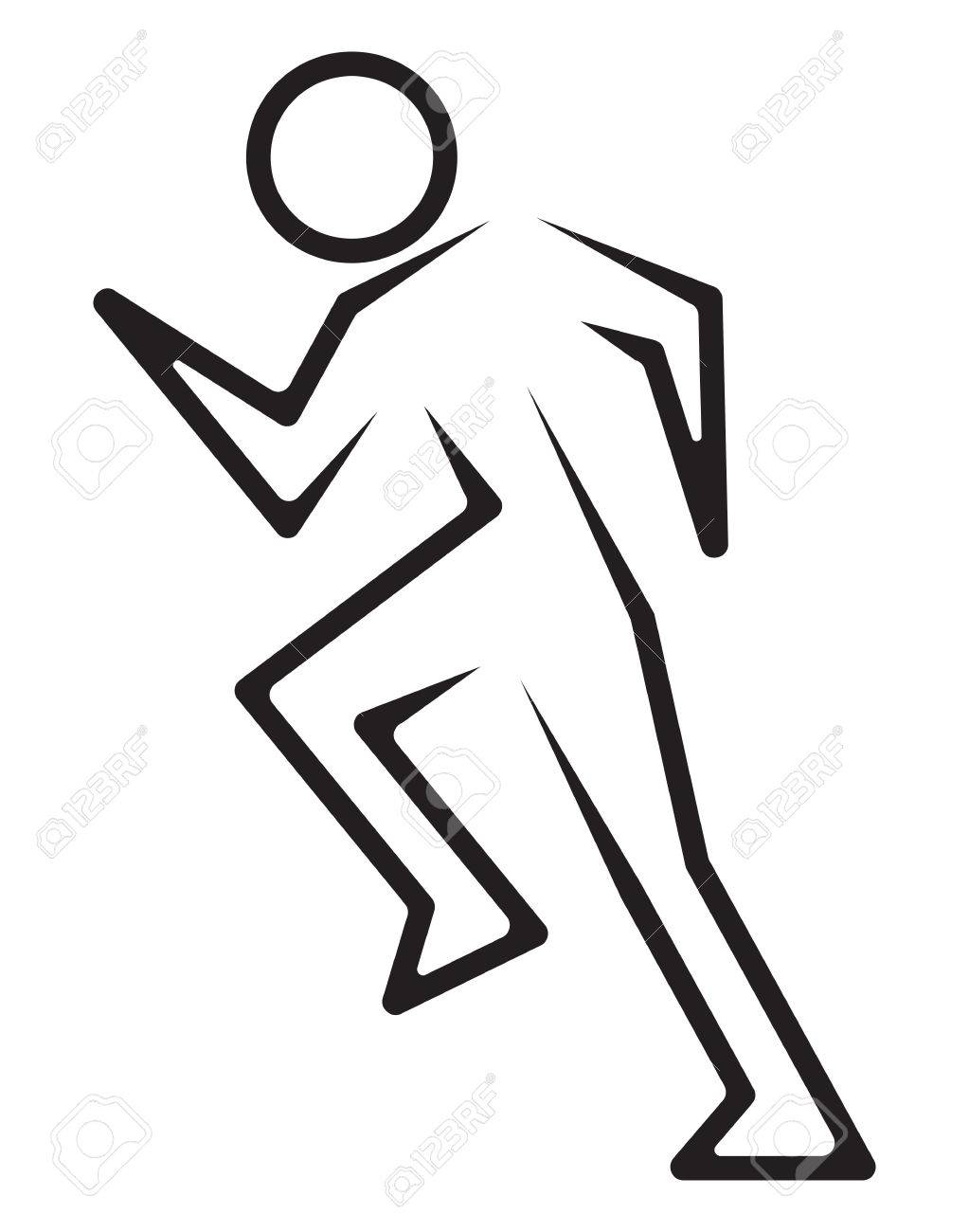 Running Man Icon Royalty Free Cliparts Vectors And Stock