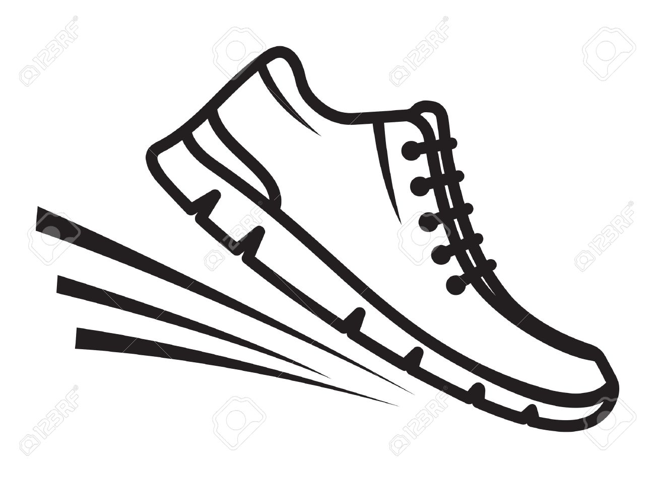Running shoes icons - 38127618