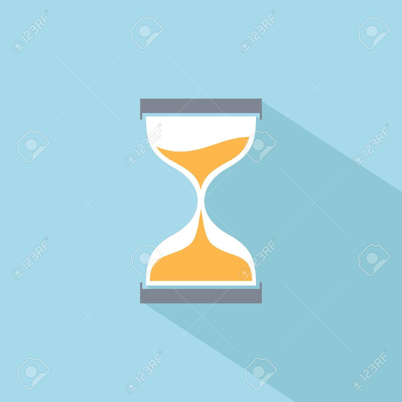 Sand clock flat icon - 41502975