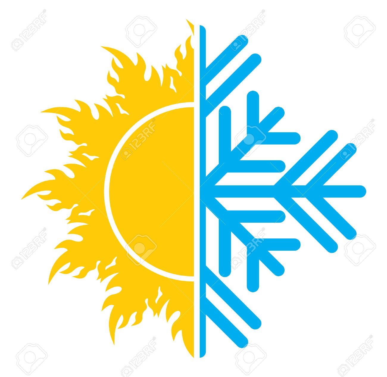 Air Conditioning Icon Summer Winter Royalty Free Cliparts, Vectors ...