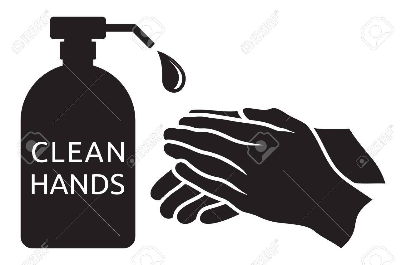 Clean hands vector illustration - 41431655
