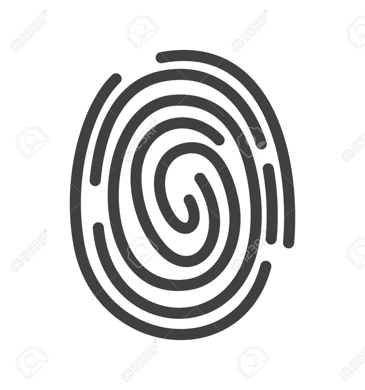 Fingerprint icon - 41390880