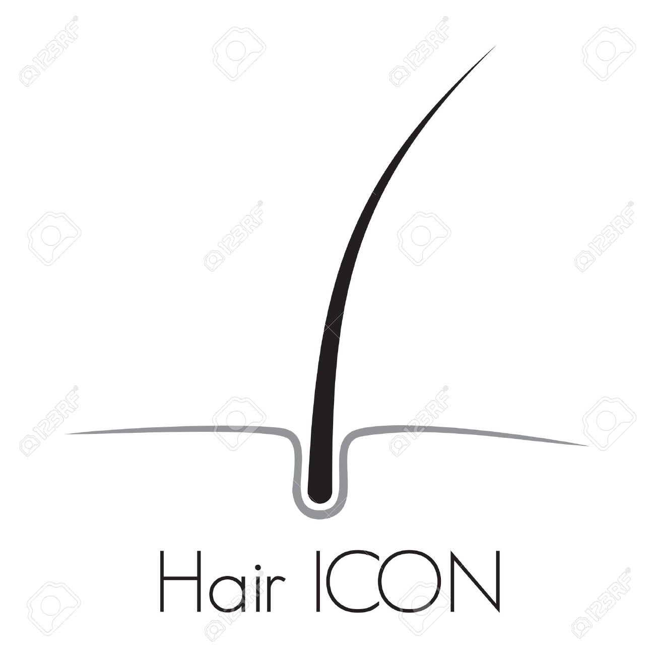 Hair follicle stock photos royalty free business images hair growth vector icon pooptronica Choice Image