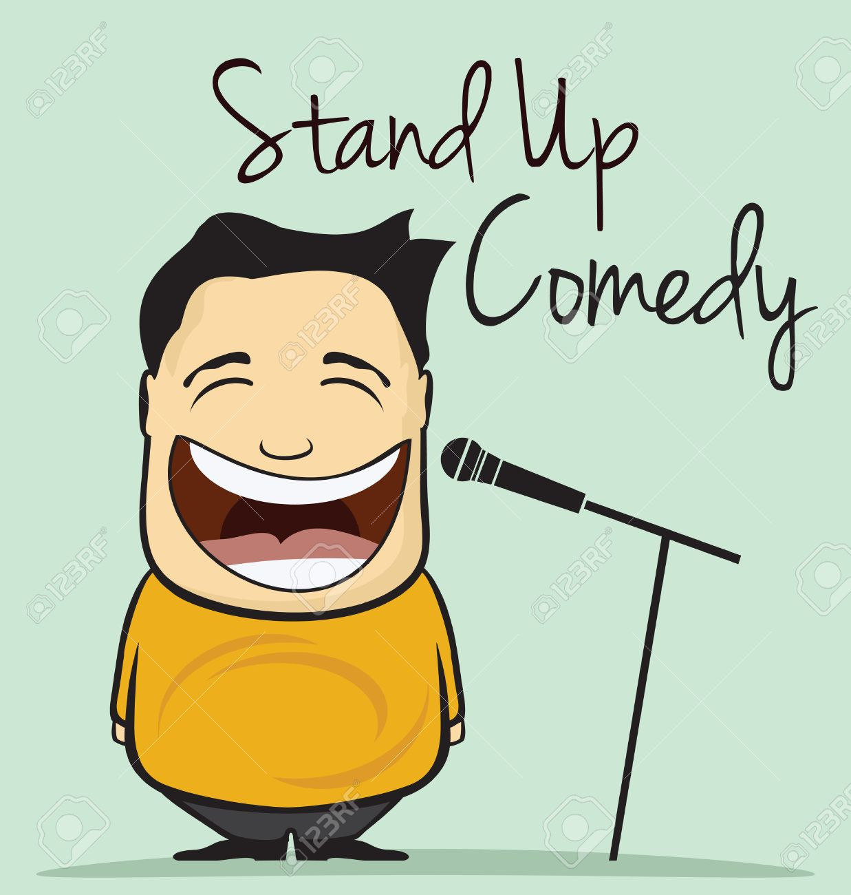 Stand up comedy vector illustration - 41261225