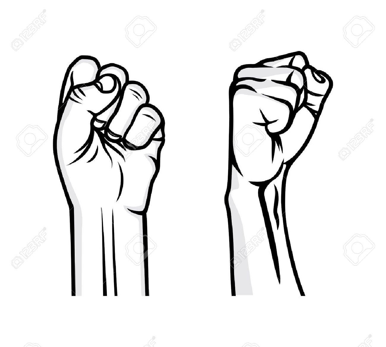 Revolution fist vector illustration - 41243824