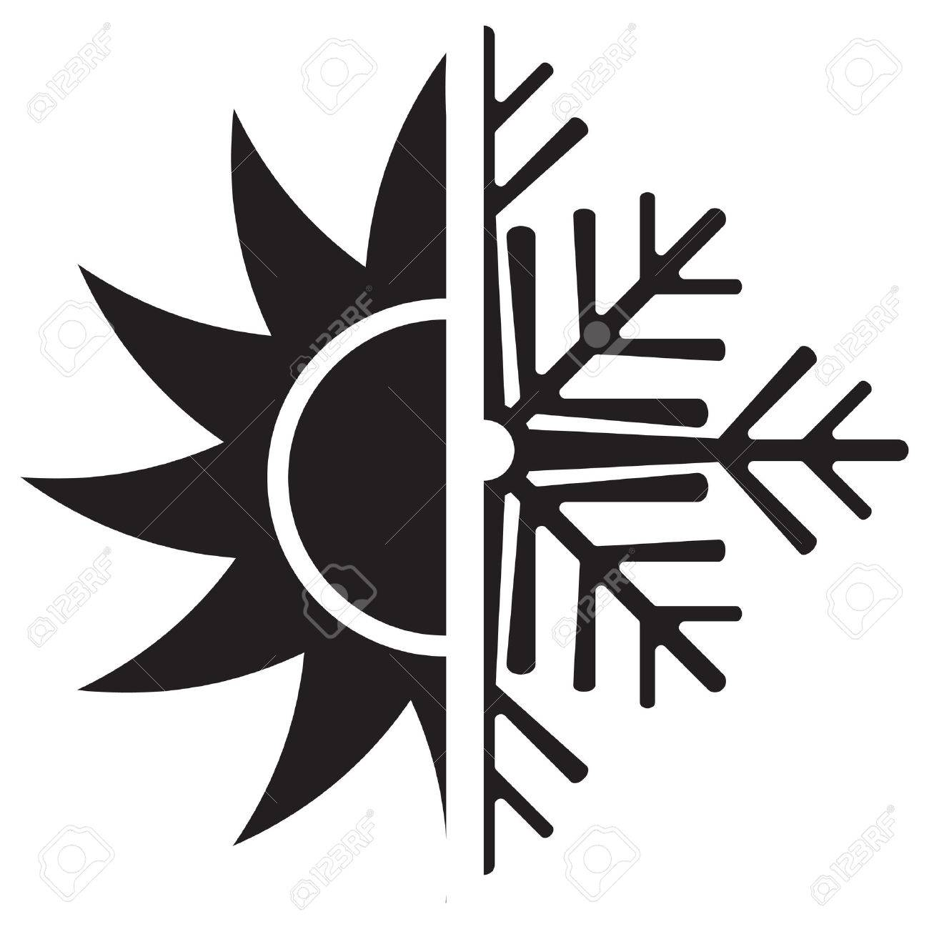 Air Conditioning Vector Icon Summer Winter Royalty Free Cliparts ...