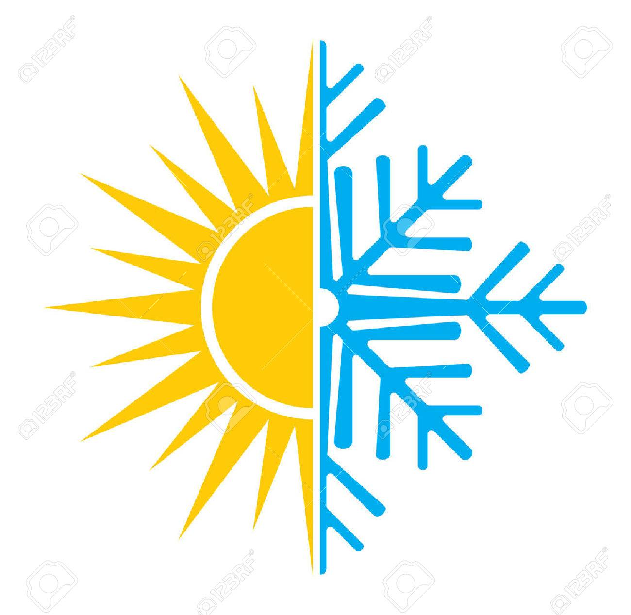 Air conditioning vector icon summer winter - 41198408