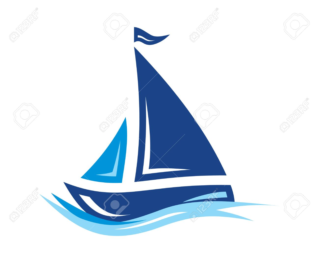 Sailing Boat vector icon - 47769879