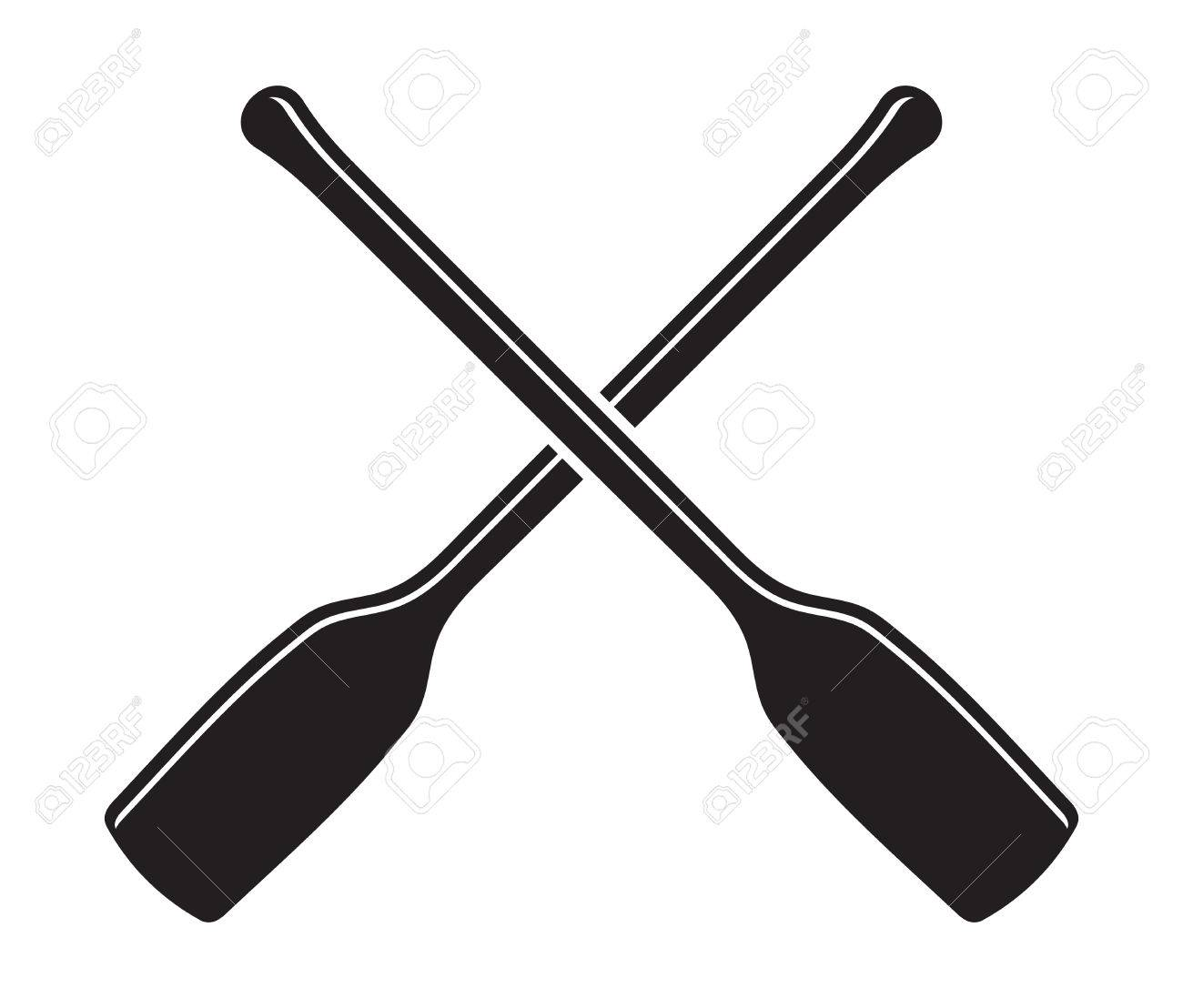 Canoe Kayak Paddle Vector Icon Illustration
