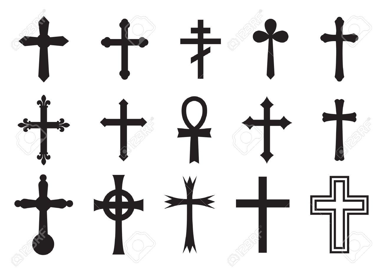Vector icon cross set - 47612653