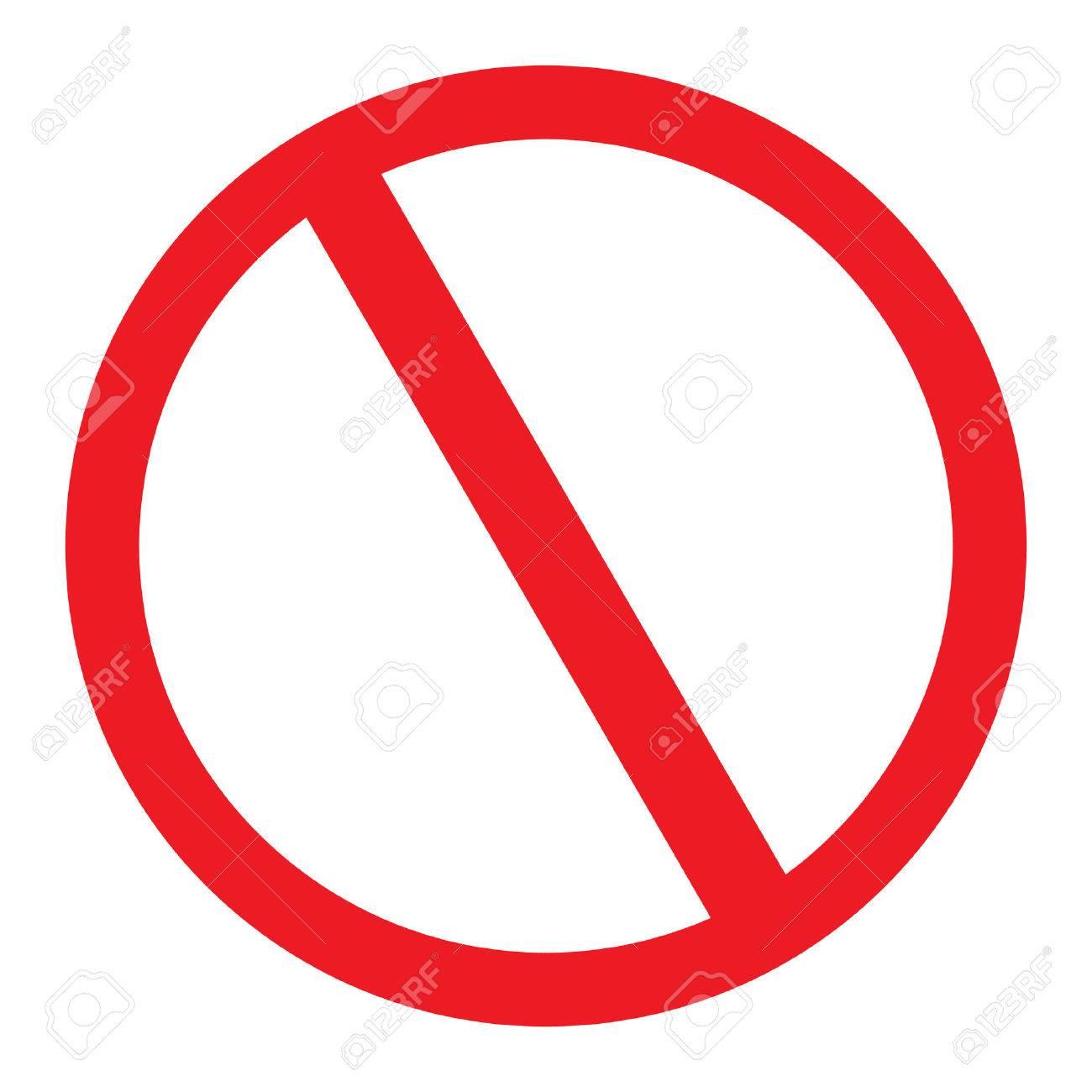 No Sign blank vector icon - 58343925