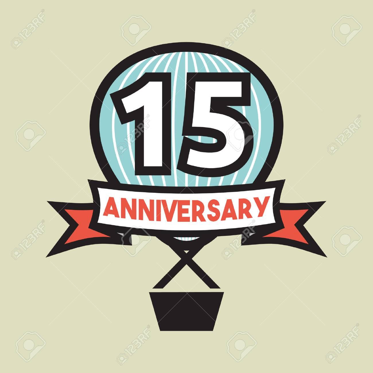 15 Years Anniversary Balloon Royalty Free Cliparts Vectors And