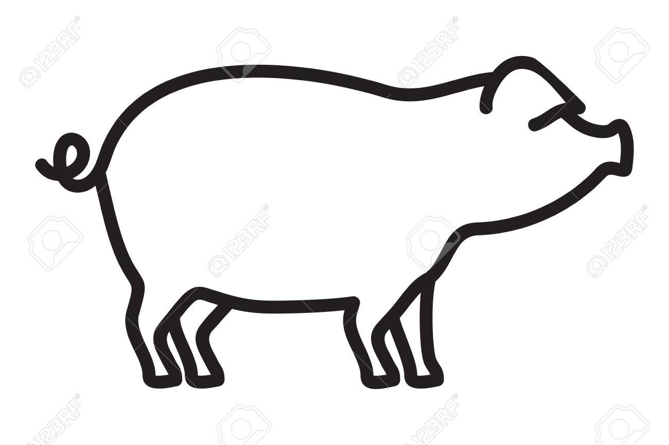 pork outline vector icon royalty free cliparts, vectors, and stock  illustration. image 68116173.  123rf